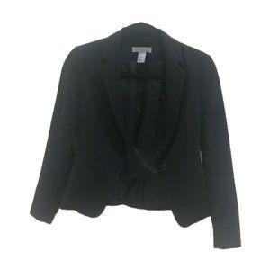 H&M Women's Blazer Business Jacket Black Sz 4